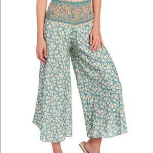 BELLE FRANCE Floral Twin Print Wide Leg Pants
